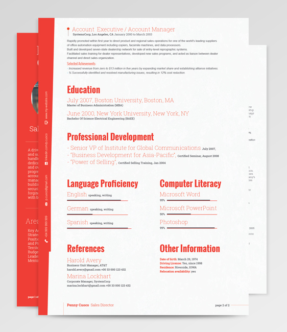 Tucana Resume Template